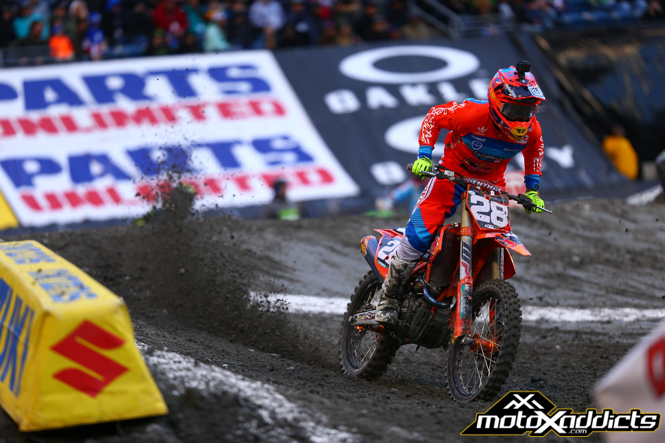 After a rough start to the season, Oldenburg fought to a well deserved 3rd in Seattle. Photo: TLD / KTM