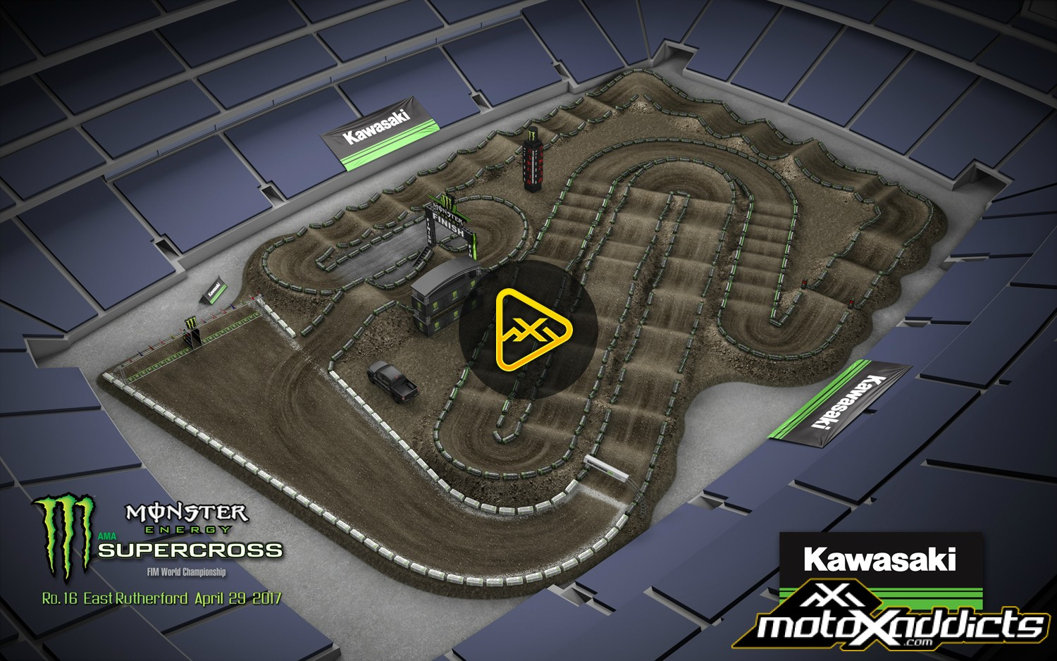 2017 East Rutherford SX Animated Track Map