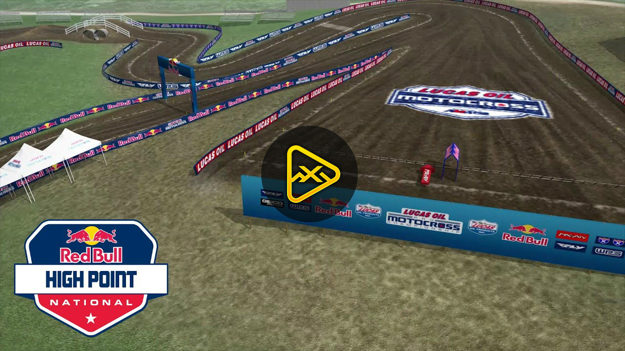 2017 High Point National Animated Track Map