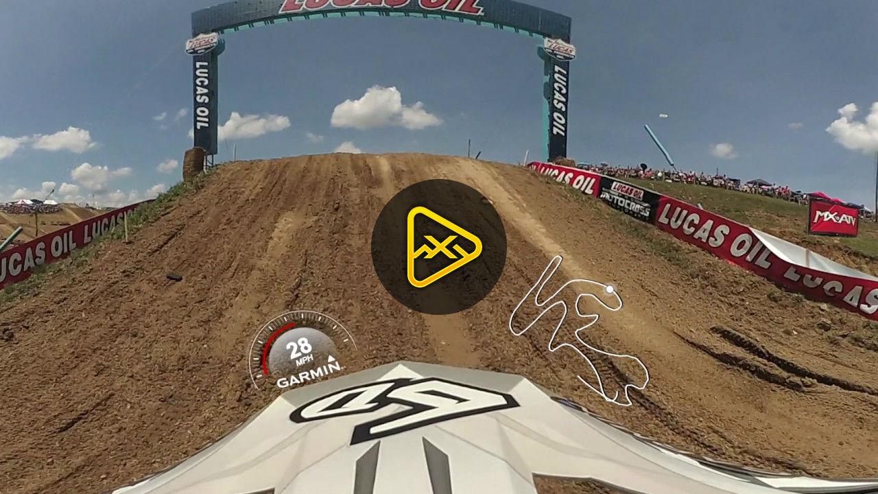 Helmet Cam: 360 Degree View – Jeremy Martin moto 1 at High Point