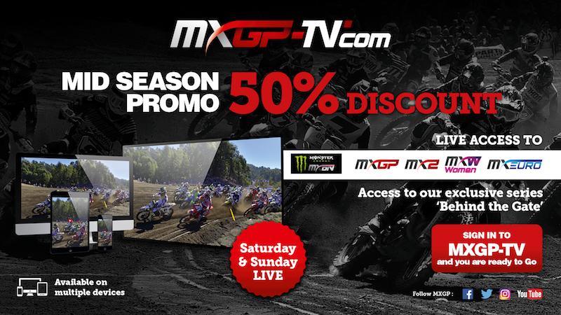 Take advantage of MXGP-TV Mid season promotion