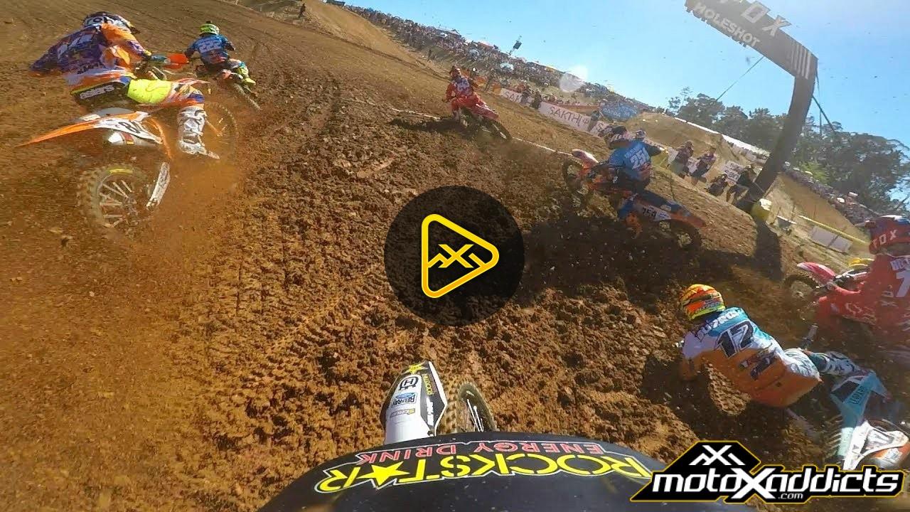 Helmet Cam: Gautier Paulin at MXGP Portugal Moto 2