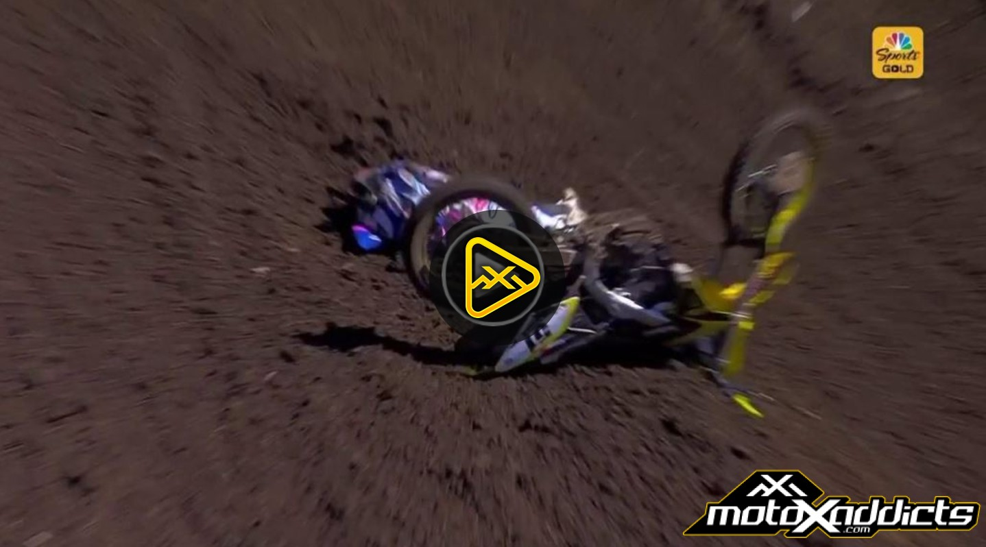 Justin Barcia Crash – Out for Washougal National