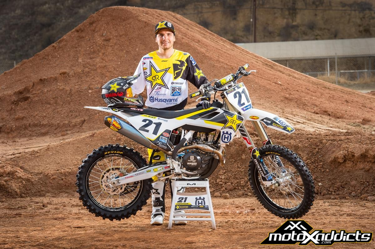 JASON ANDERSON OUT FOR REMAINDER OF PRO MOTOCROSS CHAMPIONSHIP