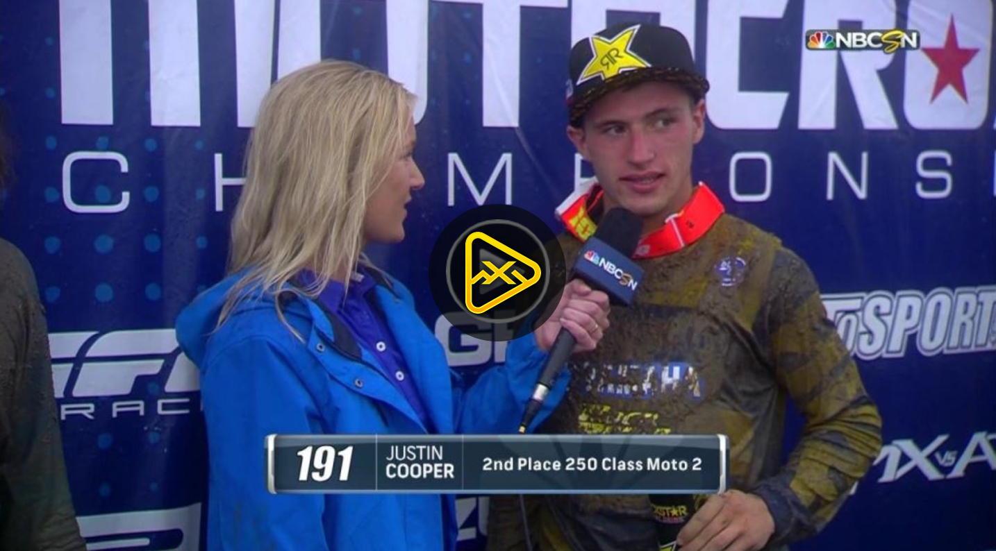 Justin Cooper Talks About 2nd Place Moto