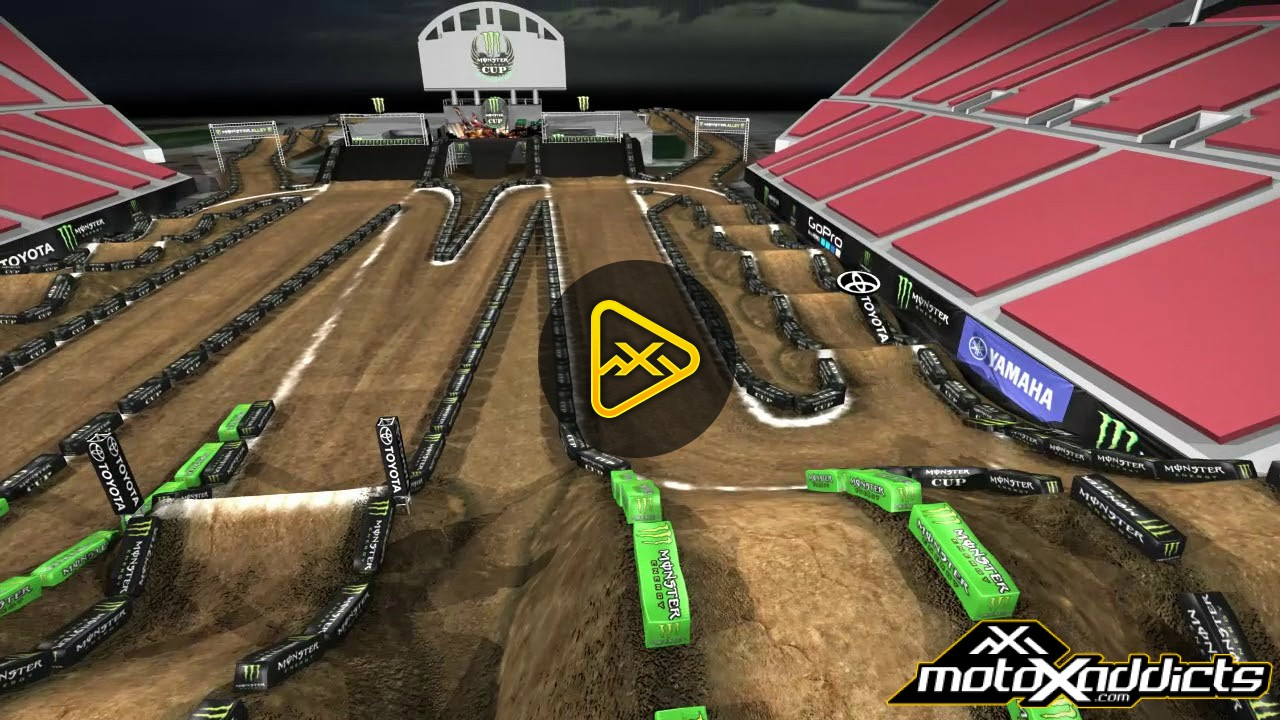 2017 Monster Energy Cup Animated Track Map