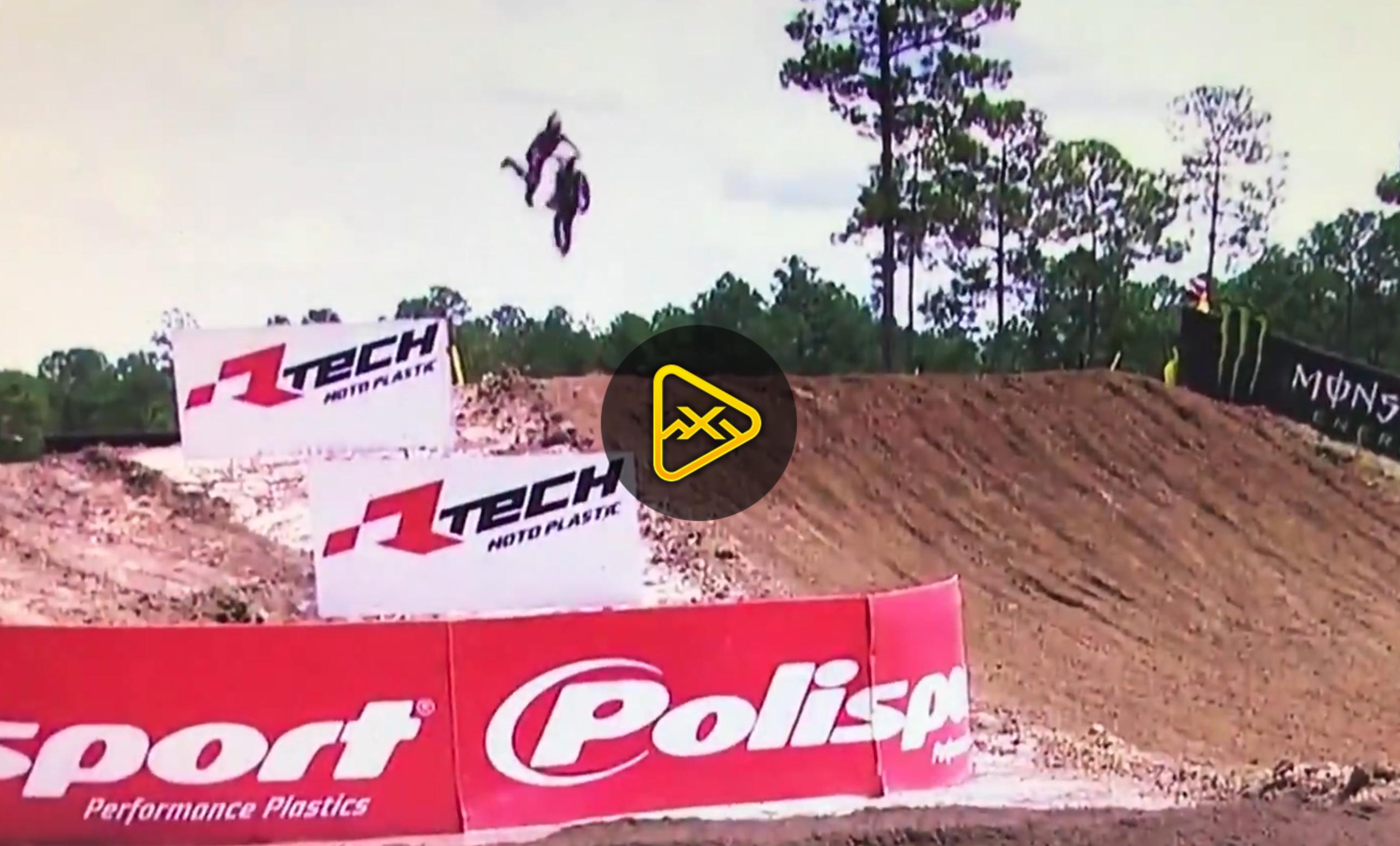 Gautier Paulin Crash – 2017 MXGP of USA