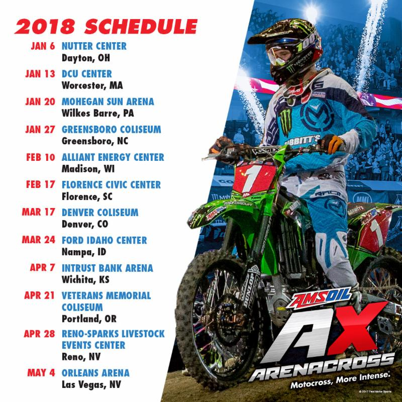 2018 Schedule AMSOIL Arenacross Season Schedule