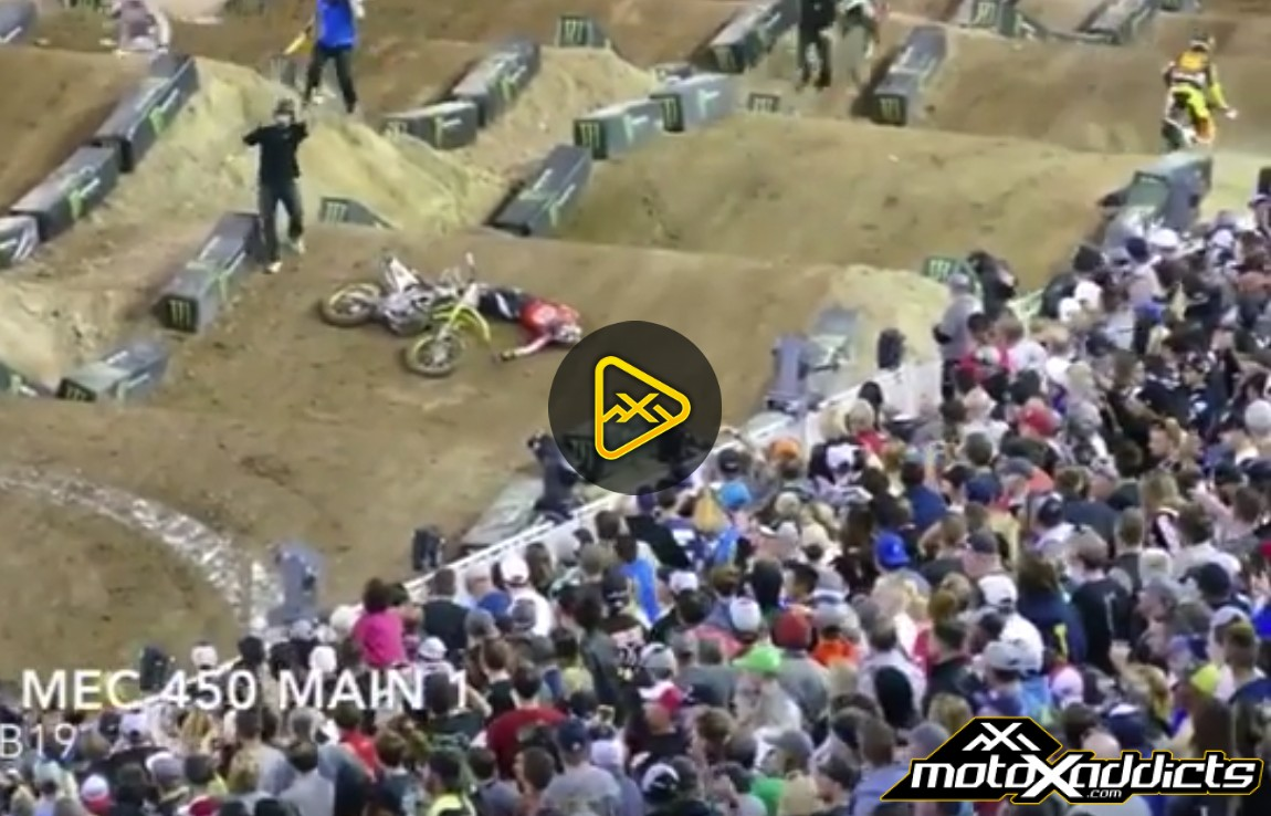 Justin Bogle's Scary Crash – 2017 Monster Energy Cup