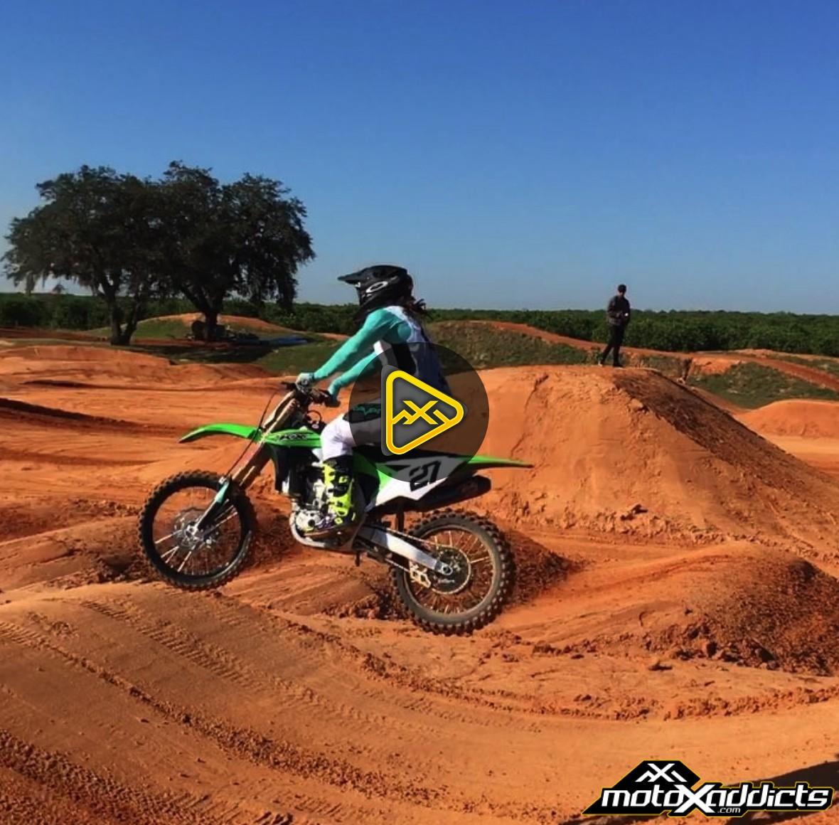 Malcolm Stewart Riding a Kawasaki