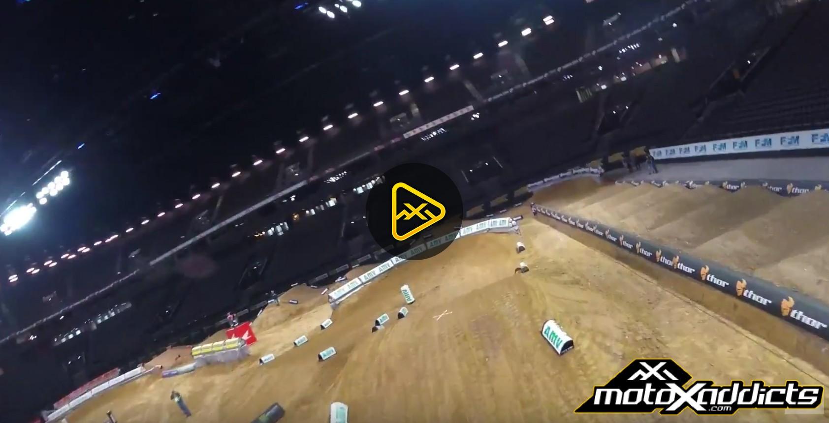 Helmet Cam: Cole Seely Hot Laps at 2017 Paris Supercross