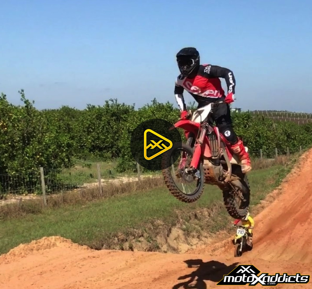 Video of James Stewart Spotted Riding a Honda