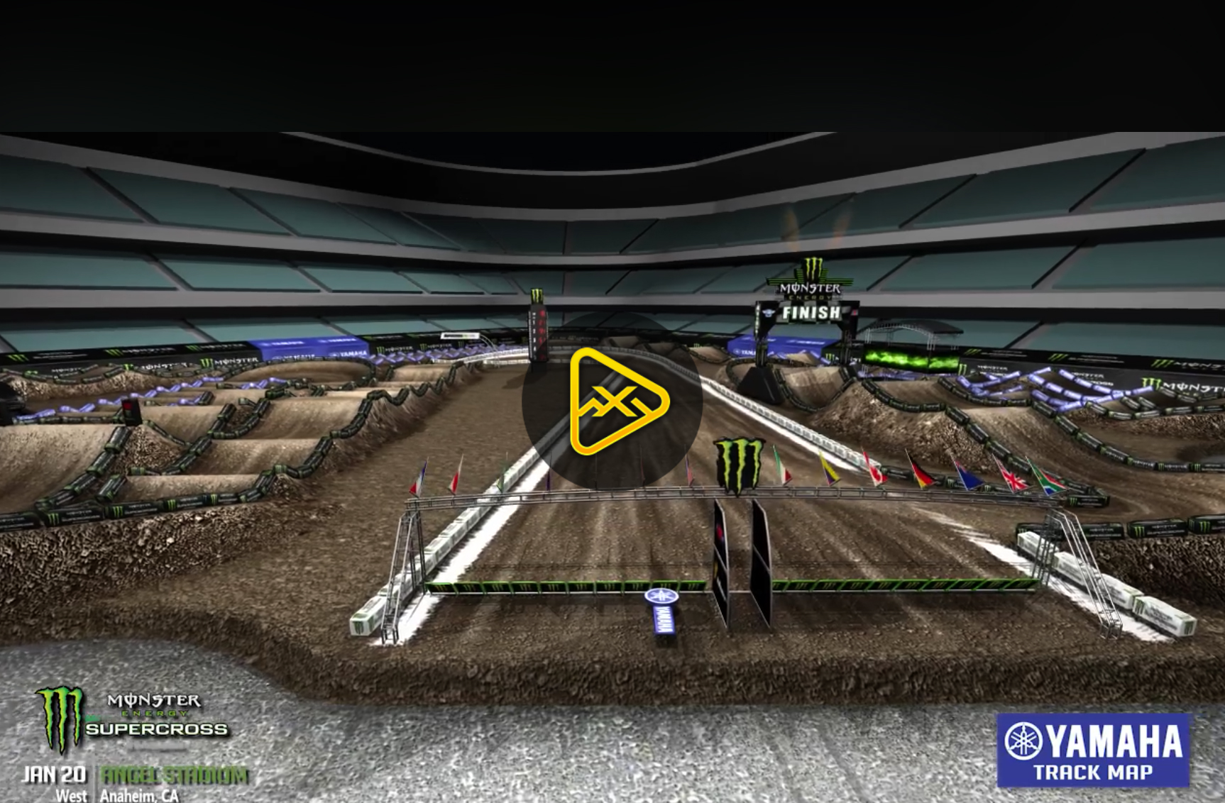 2018 Anaheim 2 SX Animated Track Map