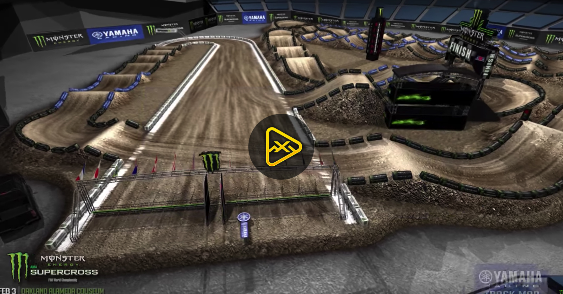 2018 Oakland SX Animated Track Map