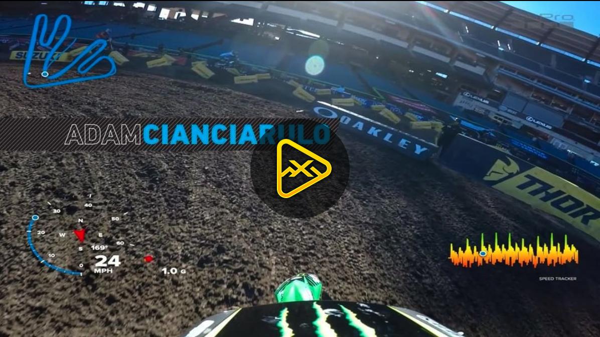 Helmet Cam: Adam Cianciarulo Lap at 2018 Anaheim 2 SX