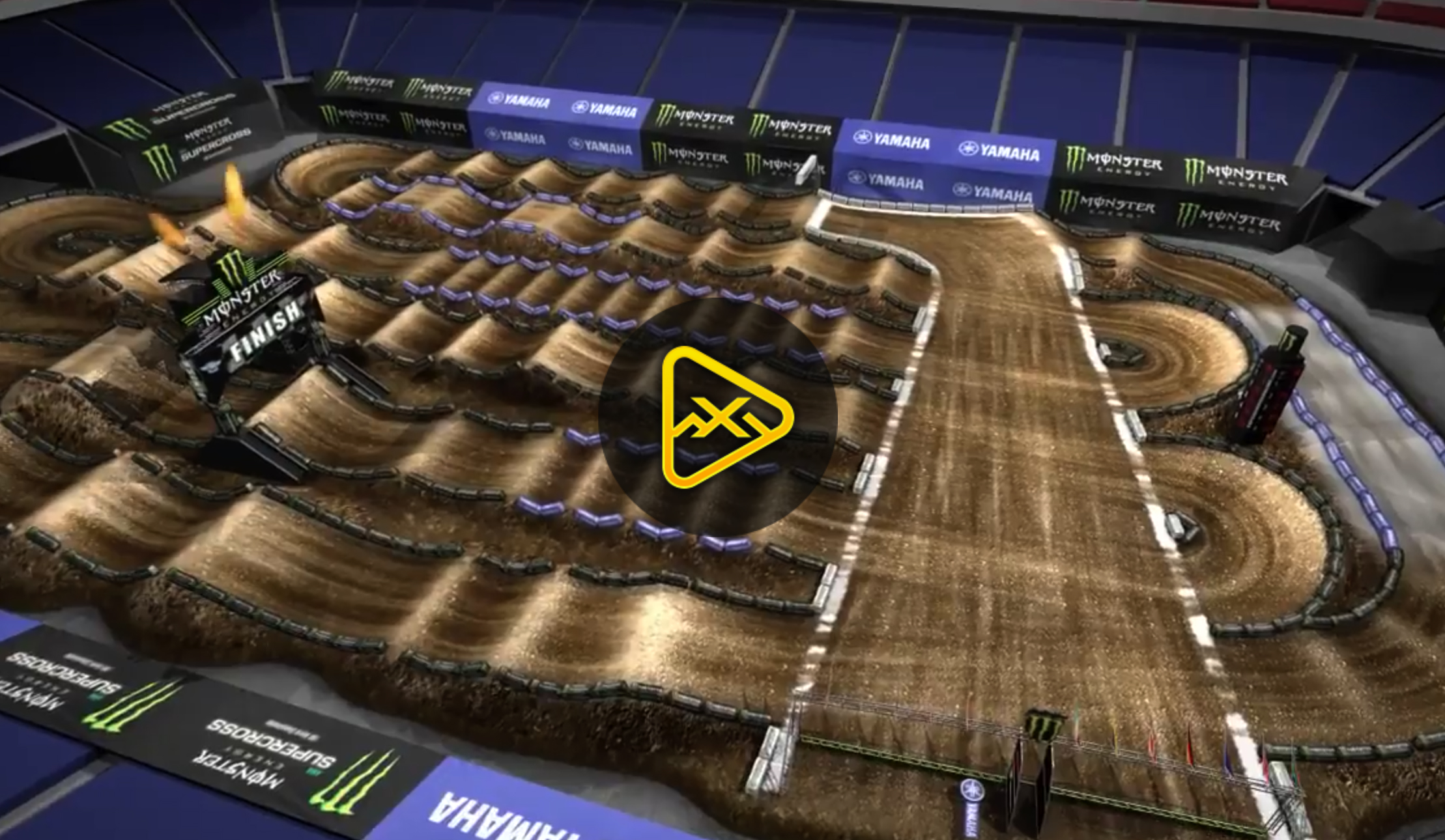 2018 Houston Supercross Animated Track Map