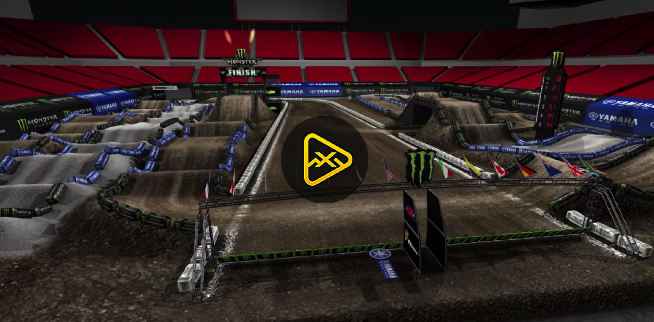 2018 Tampa SX Animated Track Map