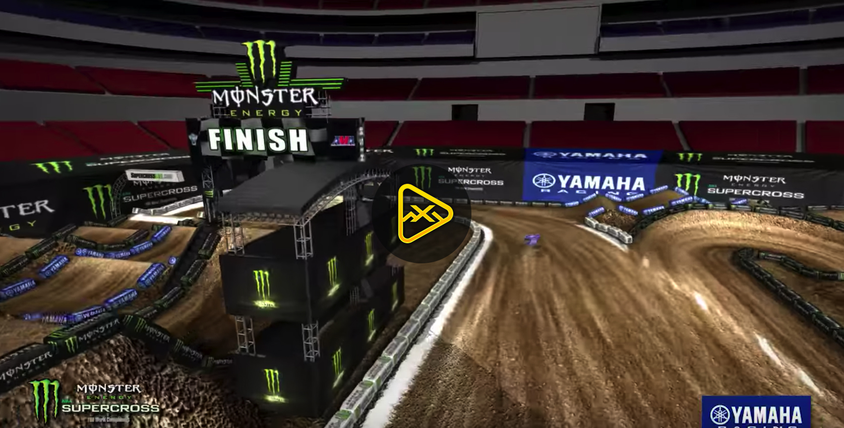 2018 St Louis SX Animated Track Map