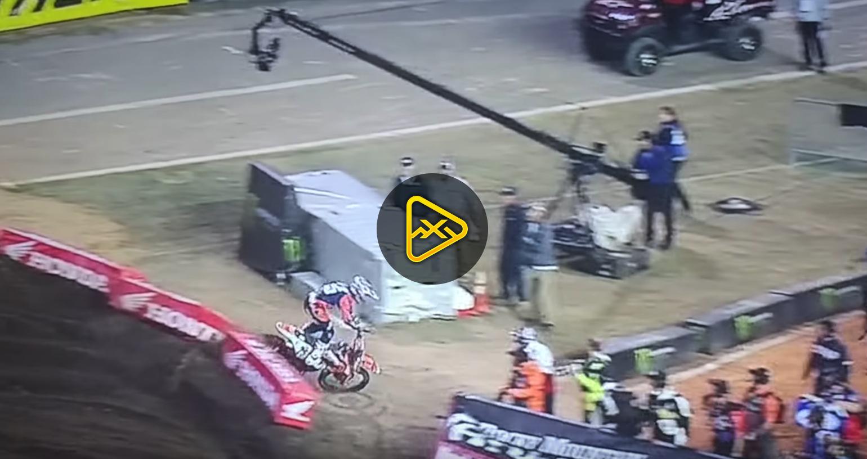 Marvin Musquin Crash  – 2018 Daytona SX