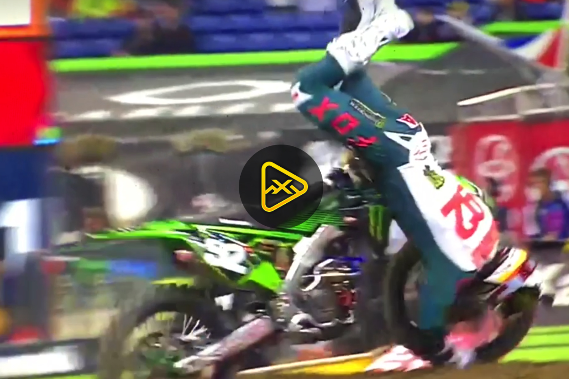 Adam Cianciarulo Crashes – 2018 Indianapolis SX