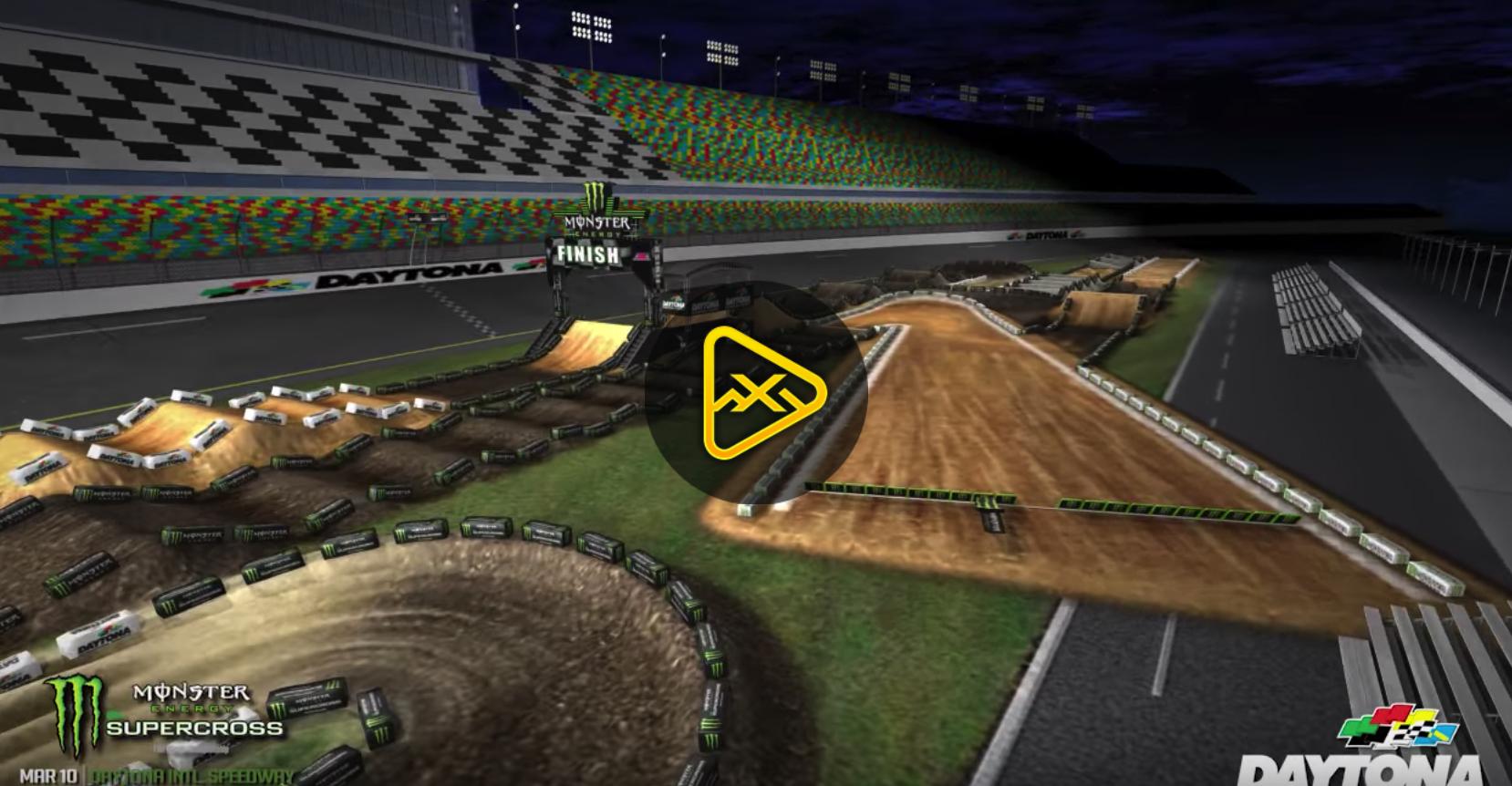 2018 Daytona SX Animated Track Map