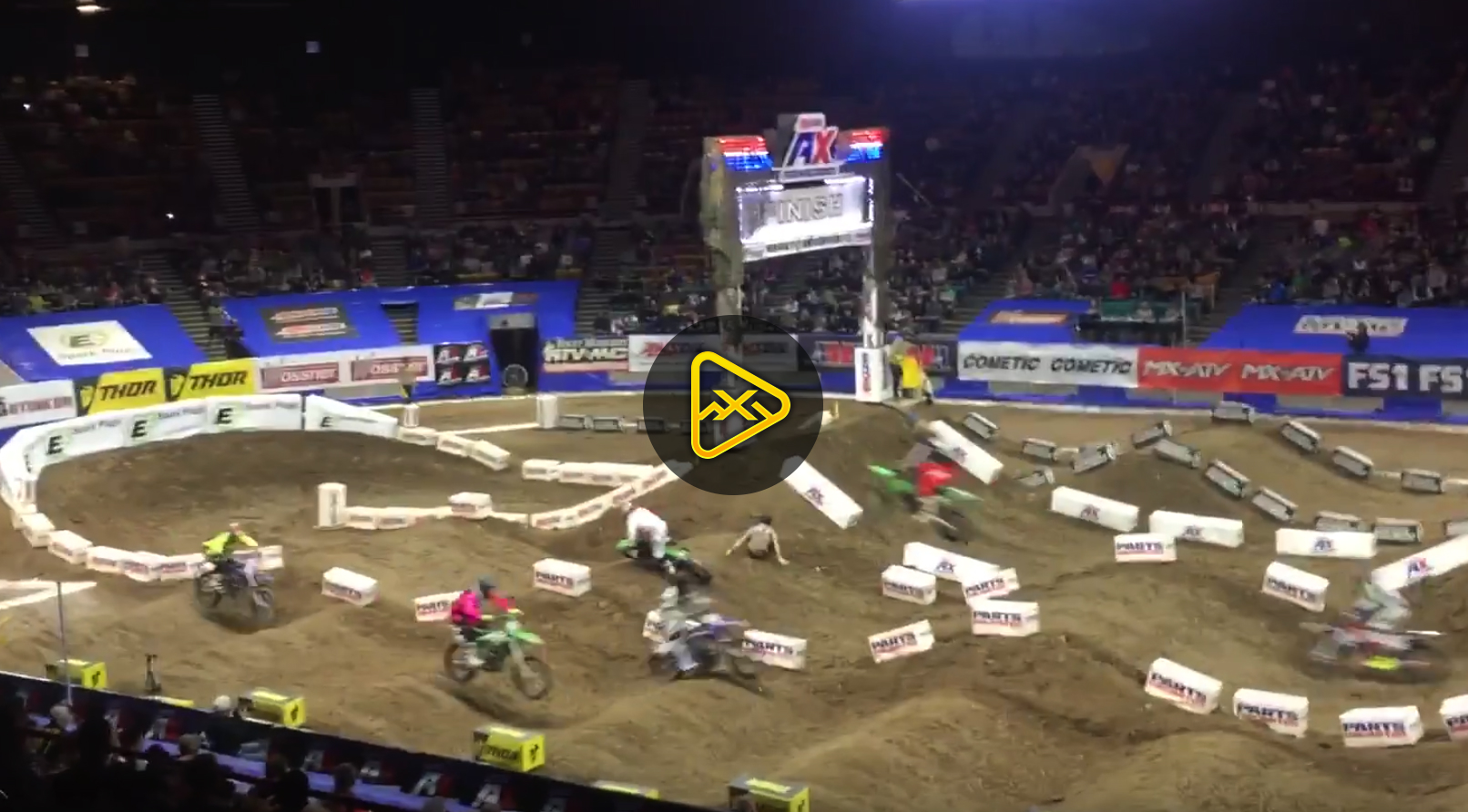 Track Worker T-Boned by Rider in AMSOIL Arenacross