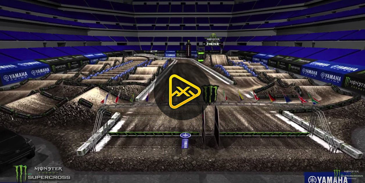 2018 Indianapolis SX Animated Track Map