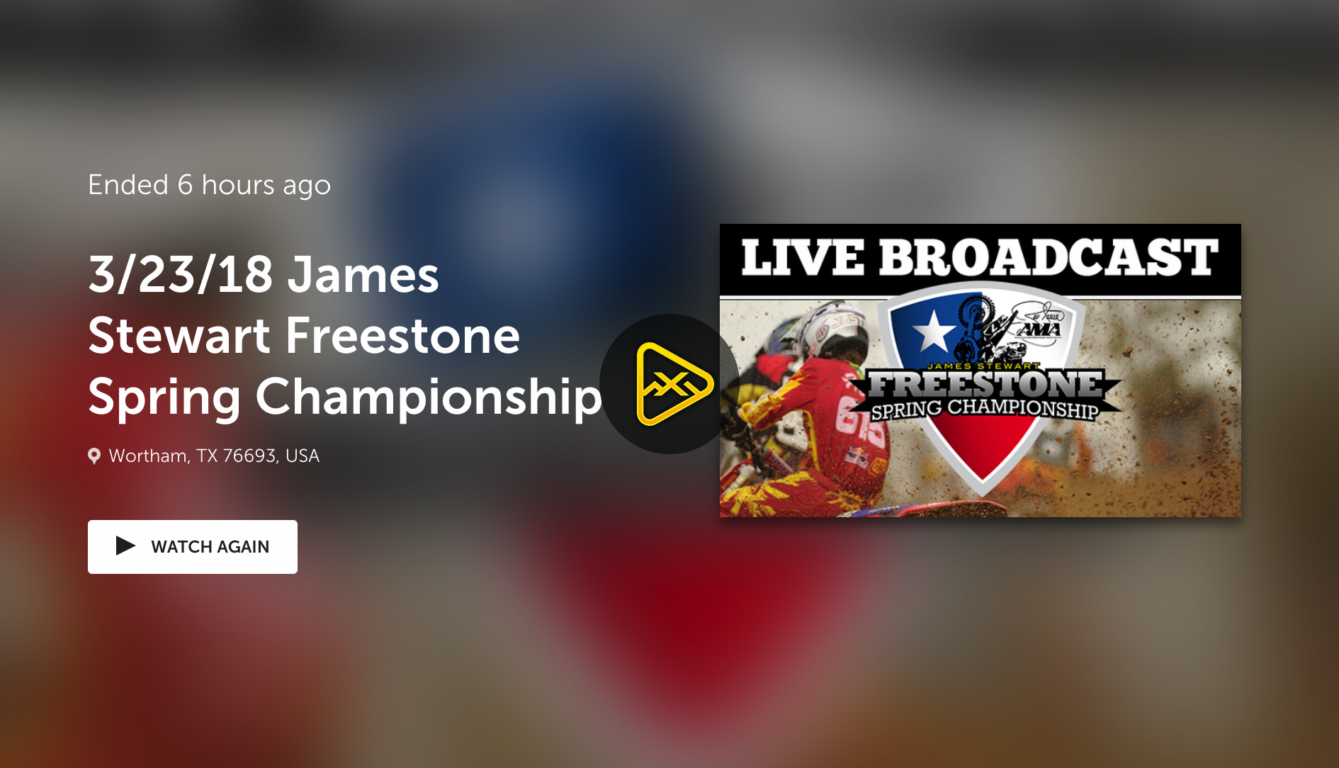Replay – Day 3 Live Stream James Stewart Freestone
