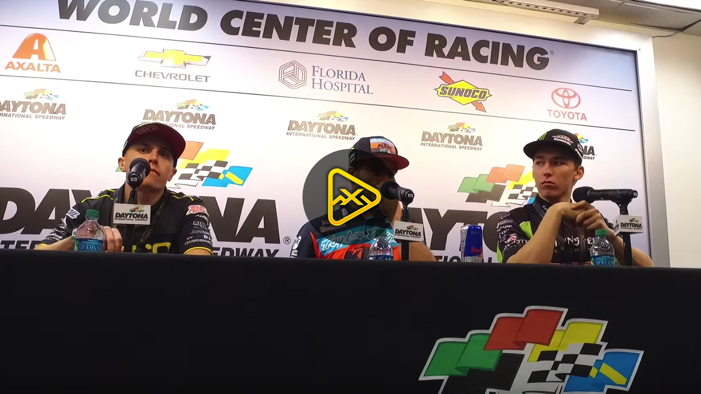 Smith, Martin, Forkner Interviews – 2018 Daytona SX