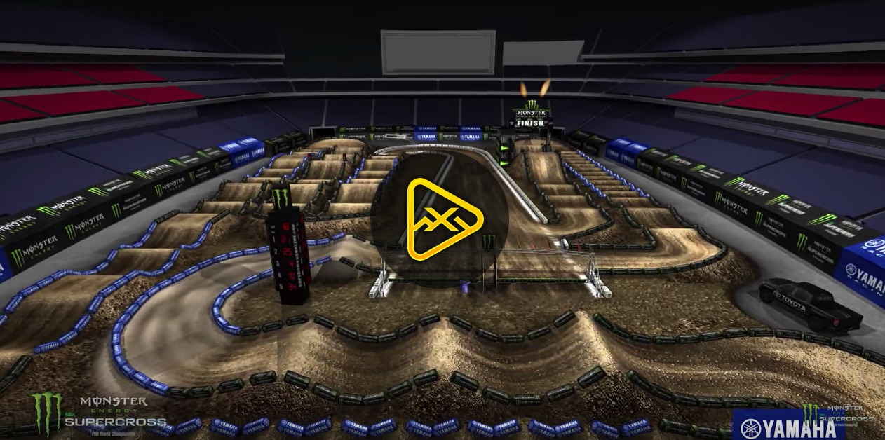 2018 Foxborough SX Animated Track Map