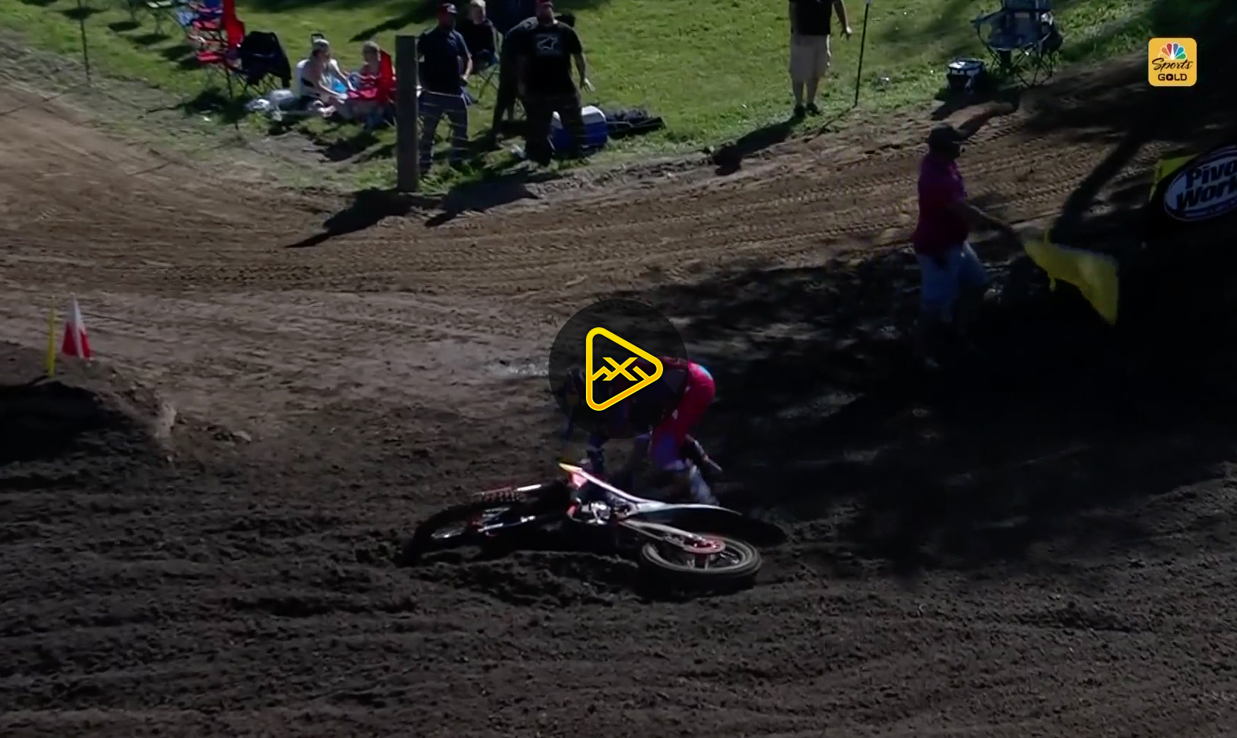 Marvin Musquin Crash from Qualifying at RedBud