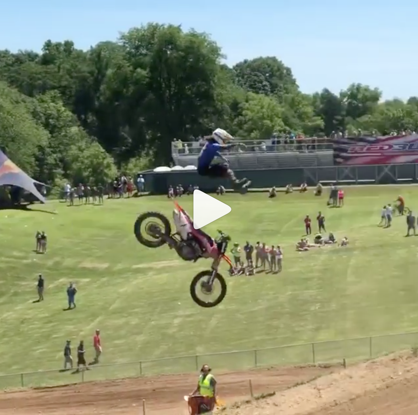 Scary Crash – Rider Ejects Off Larocco's Leap