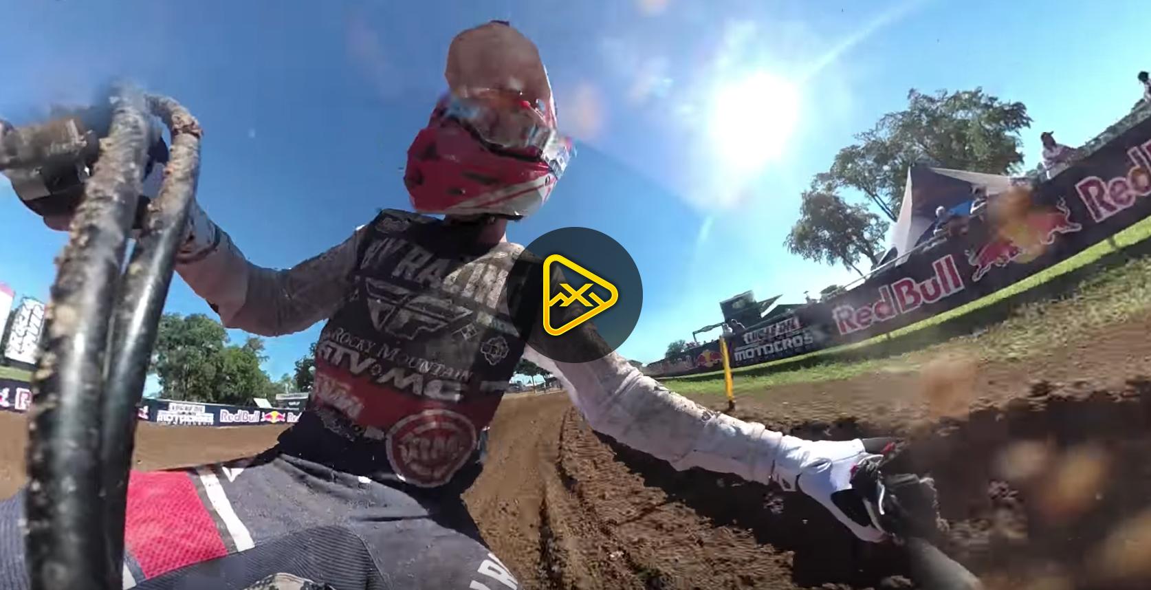 Helmet Cam: Onboard Blake Baggett at RedBud