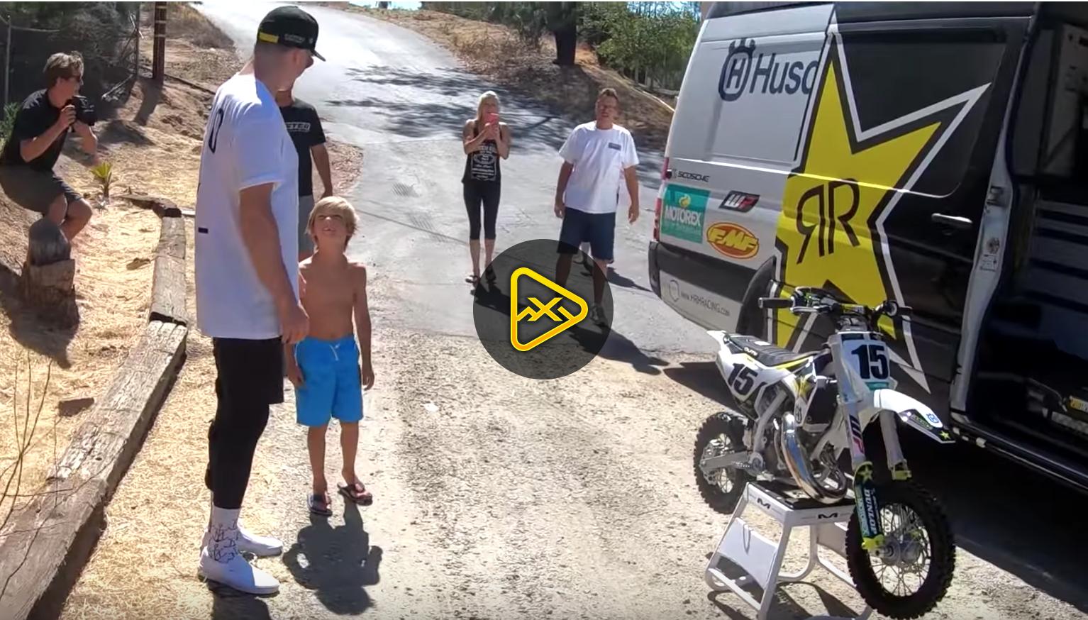 Dean Wilson Surprises Kid With Brand New Husky 50