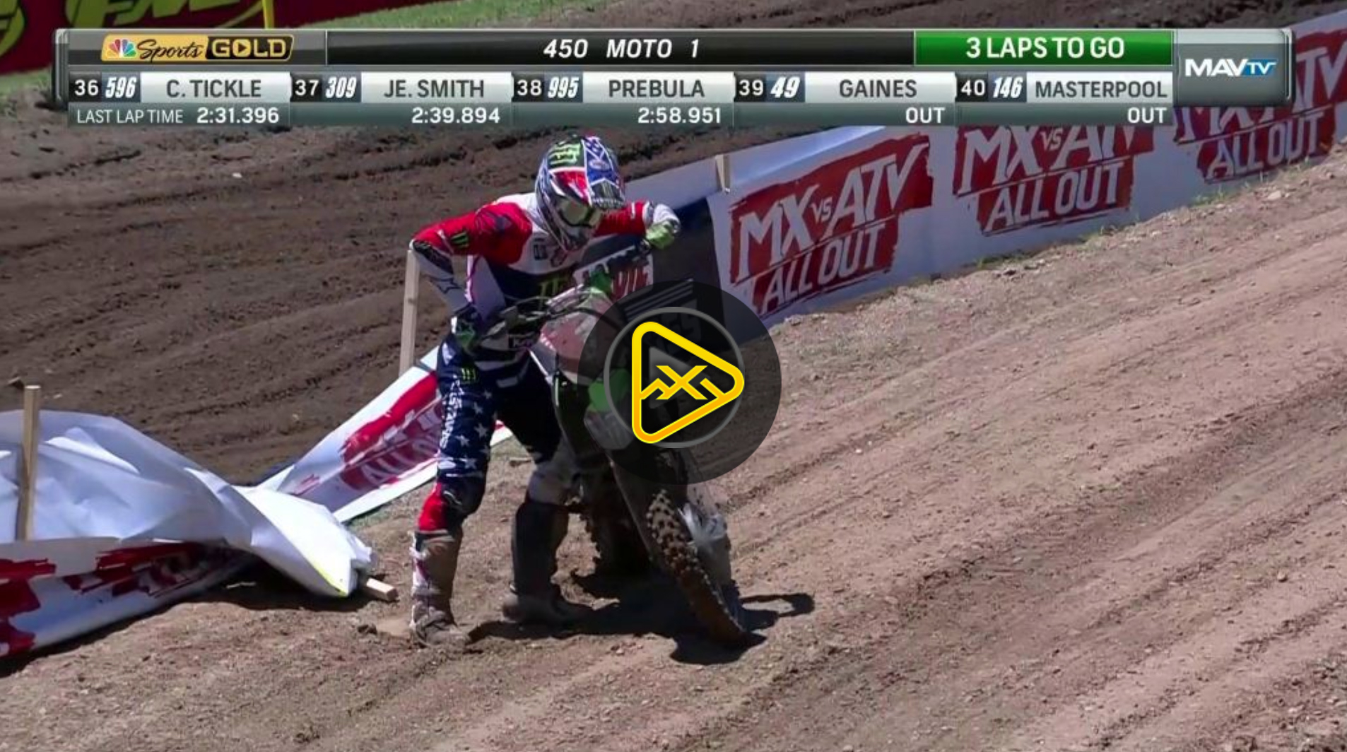 Eli Tomac's Bike Quits at RedBud