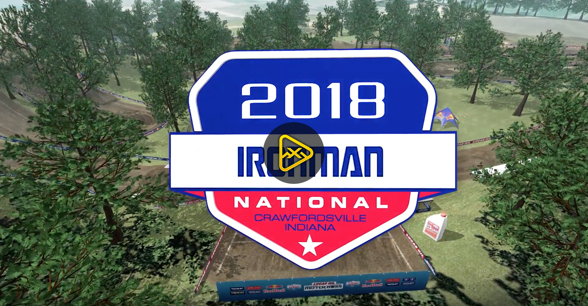2018 Ironman National Animated Track Map