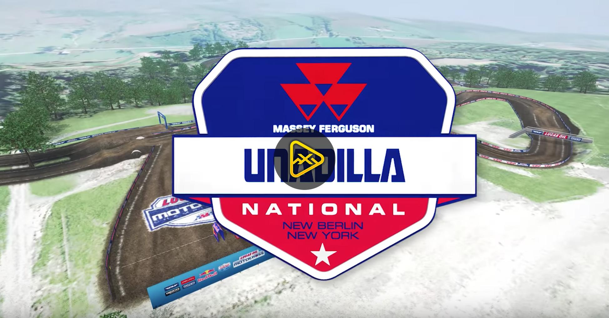 2018 Unadilla National Animated Track Map