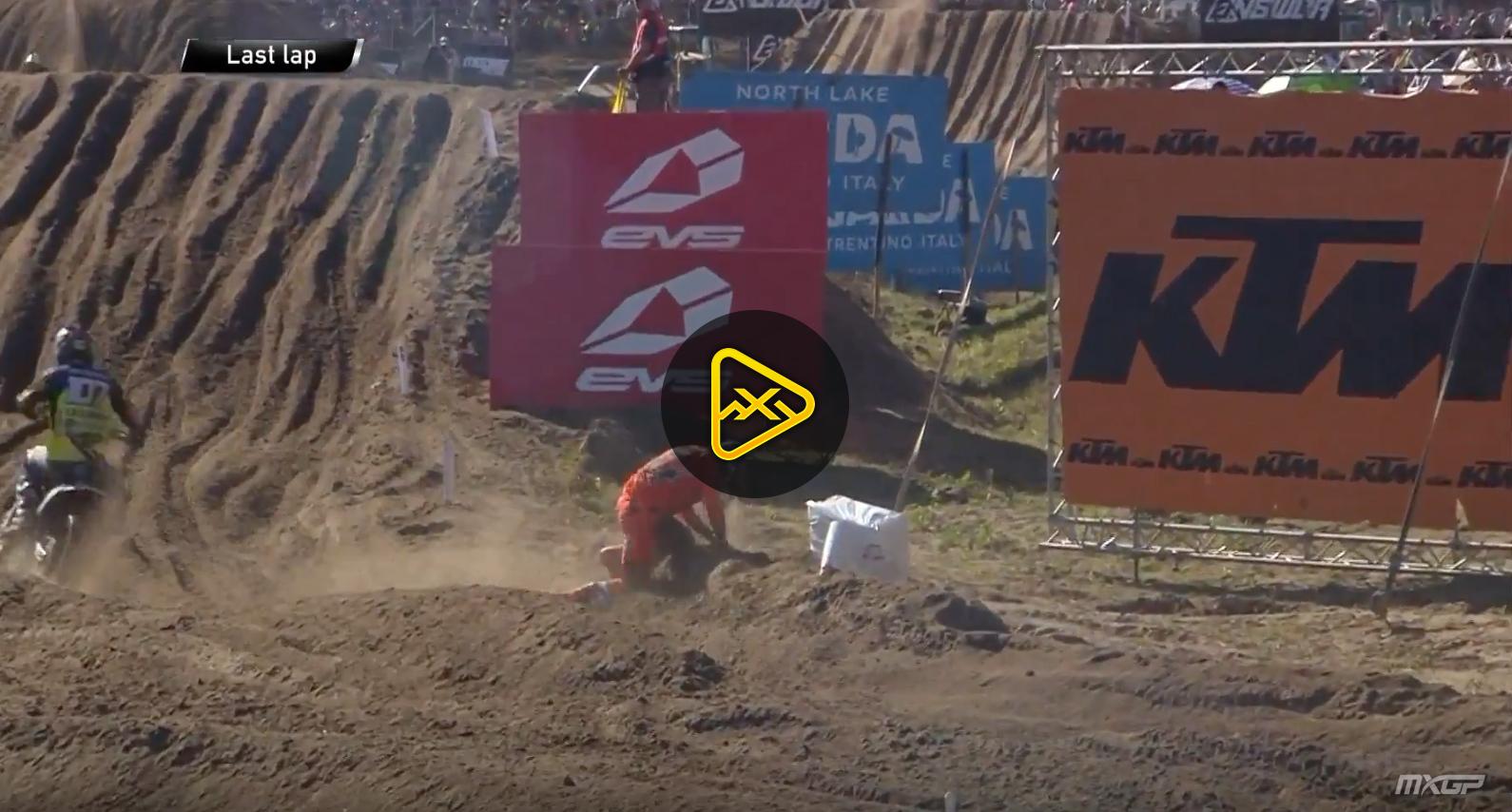 Jeffrey Herlings' Crash at Lommel