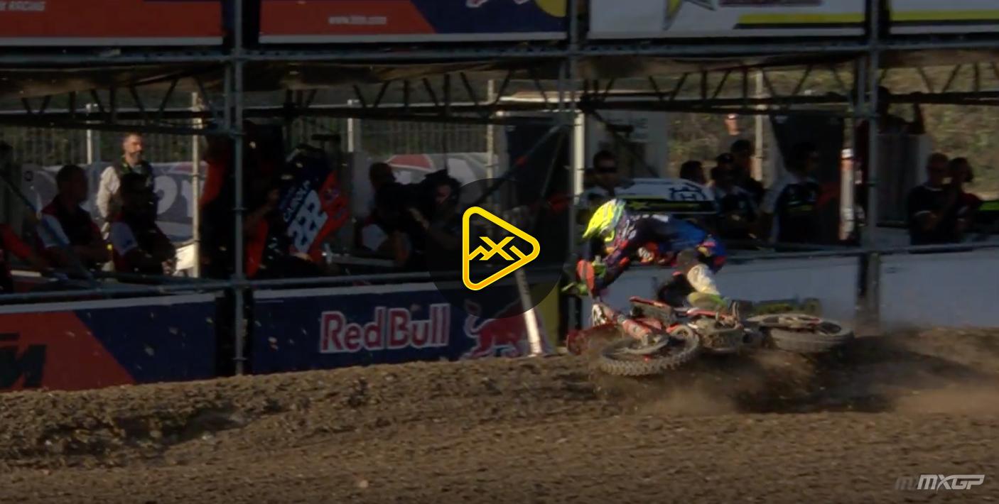 Antonio Cairoli Crash – Qualifying – MXGP of Italy