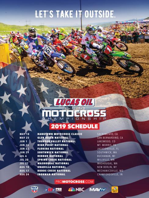 2019 Lucas Oil Pro Motocross Schedule