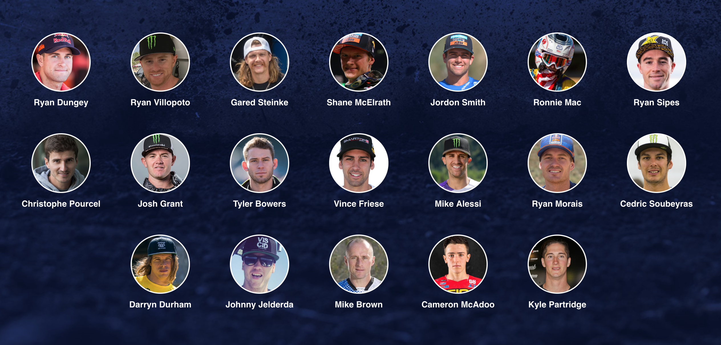 Riders List and Bracket Challenge – 2018 Red Bull Straight Rhythm