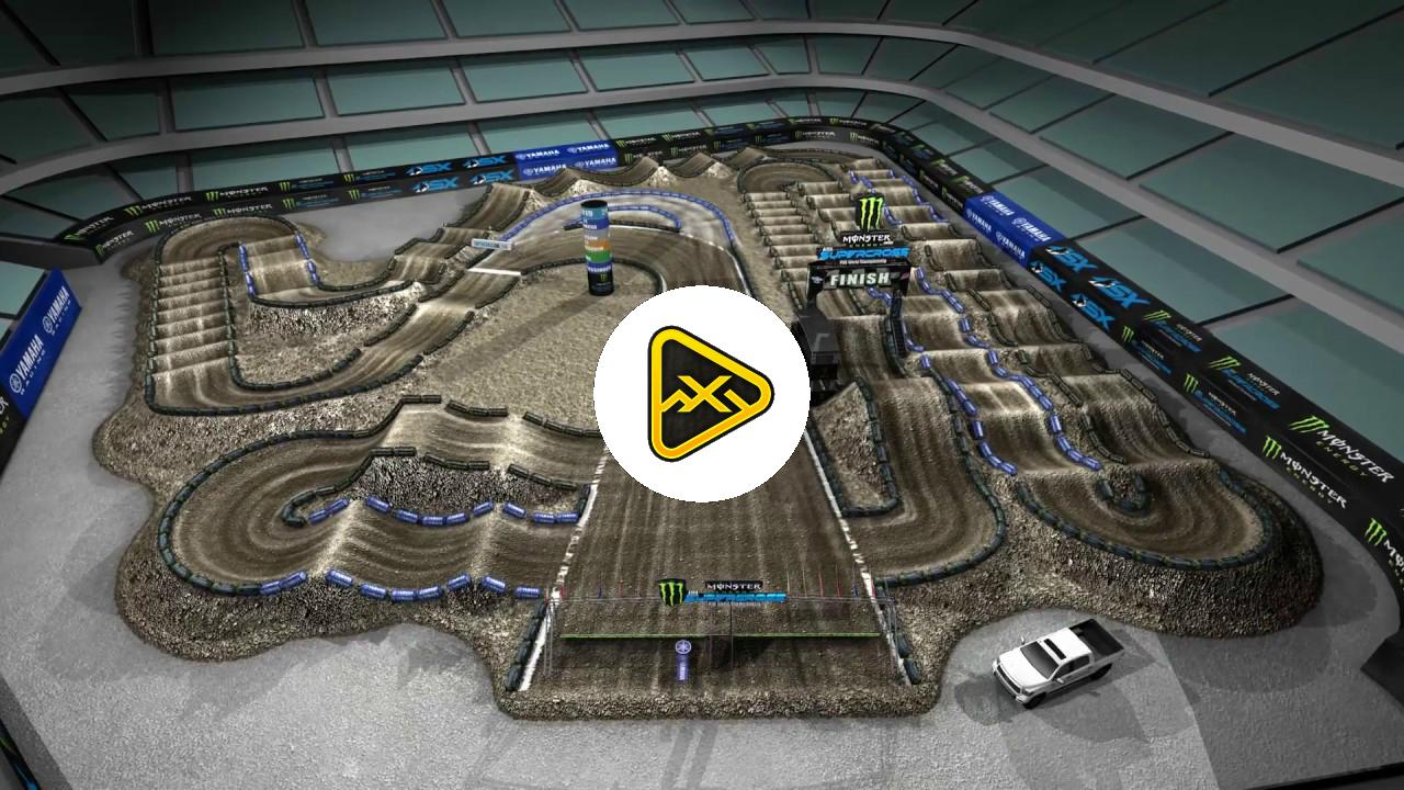 2019 Anaheim 2 SX Animated Track Map