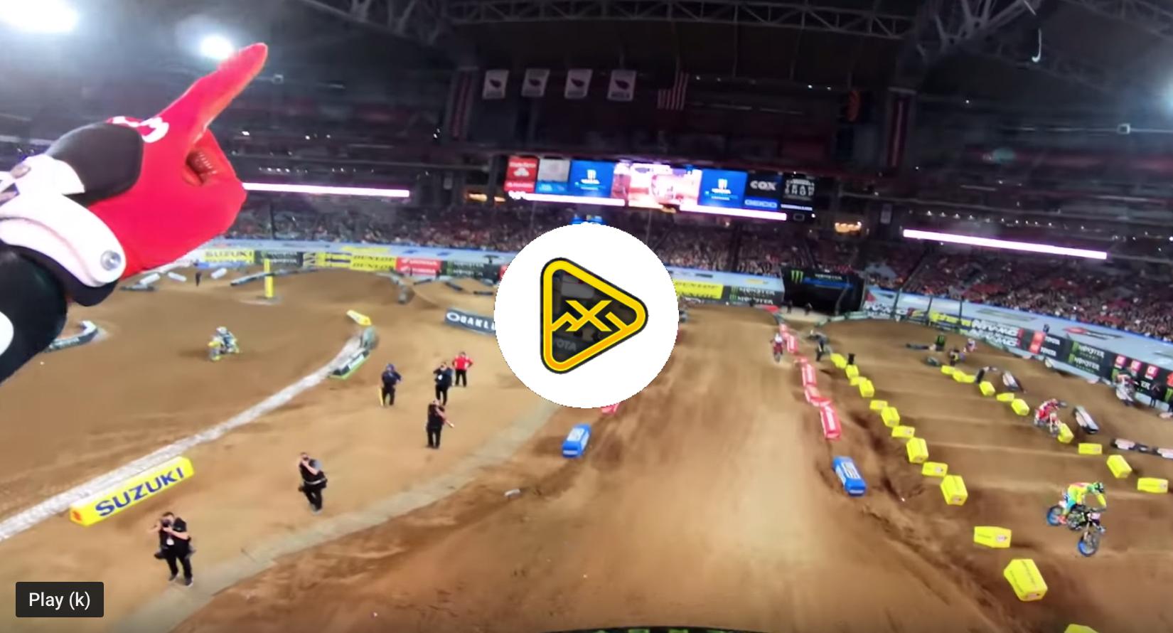 Helmet Cam: Adam Cianciarulo's Glendale SX Win