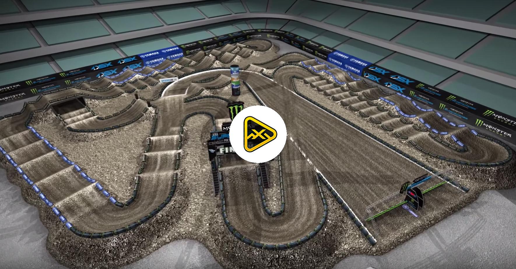 2019 Anaheim 1 SX Animated Track Map