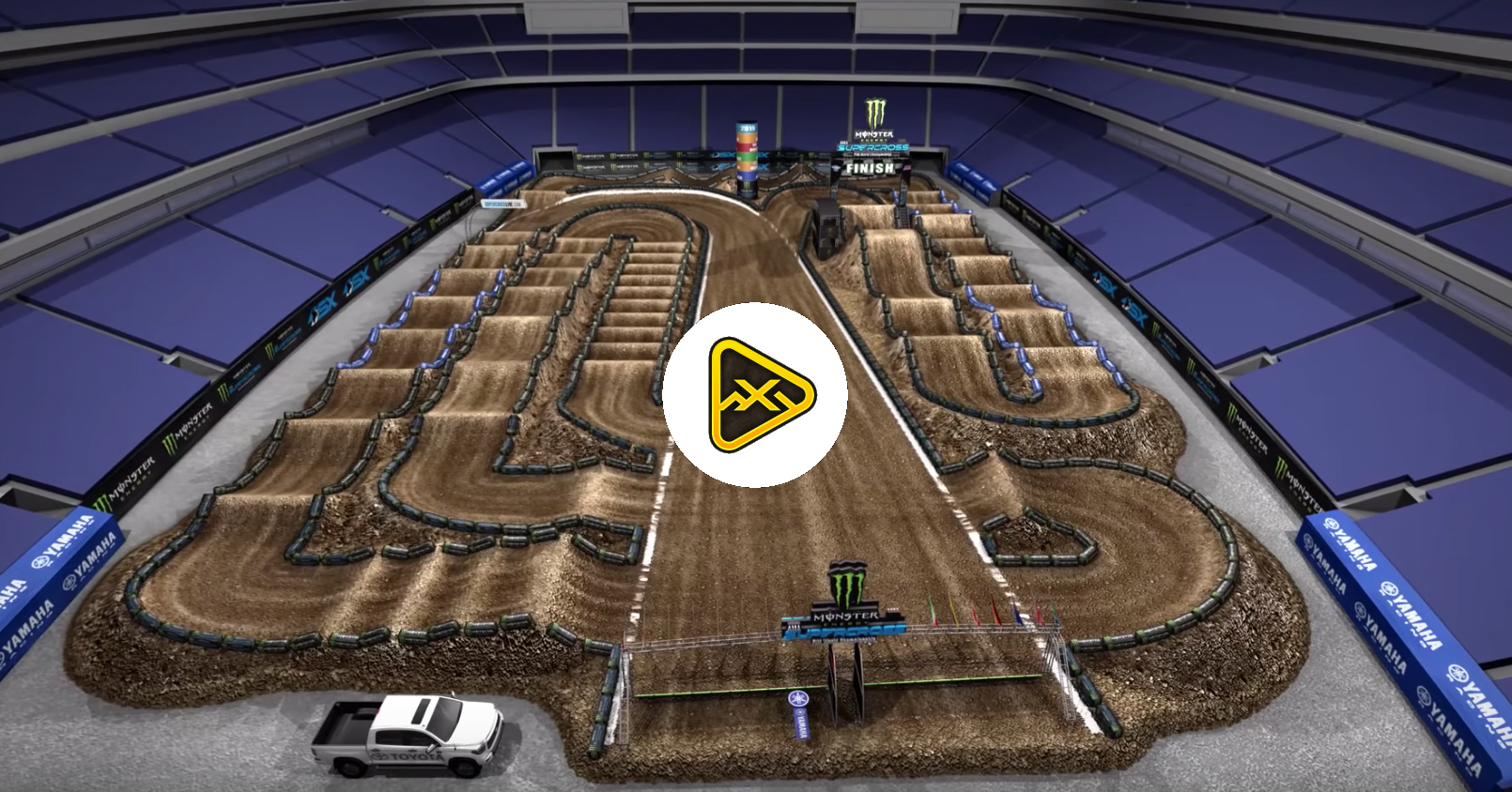 2019 Minneapolis SX Animated Track Map