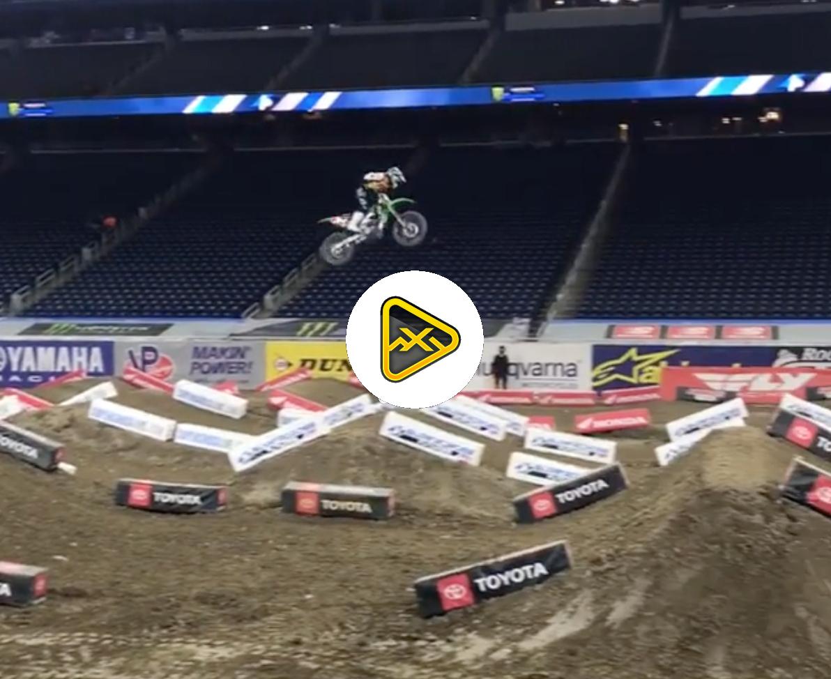 Austin Forkner Jumping Quad – Detroit SX Press Day