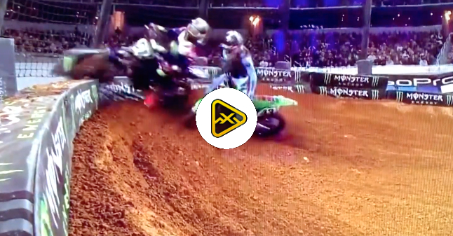 Tyler Bowers Disqualified for Take Out Move at Arlington SX