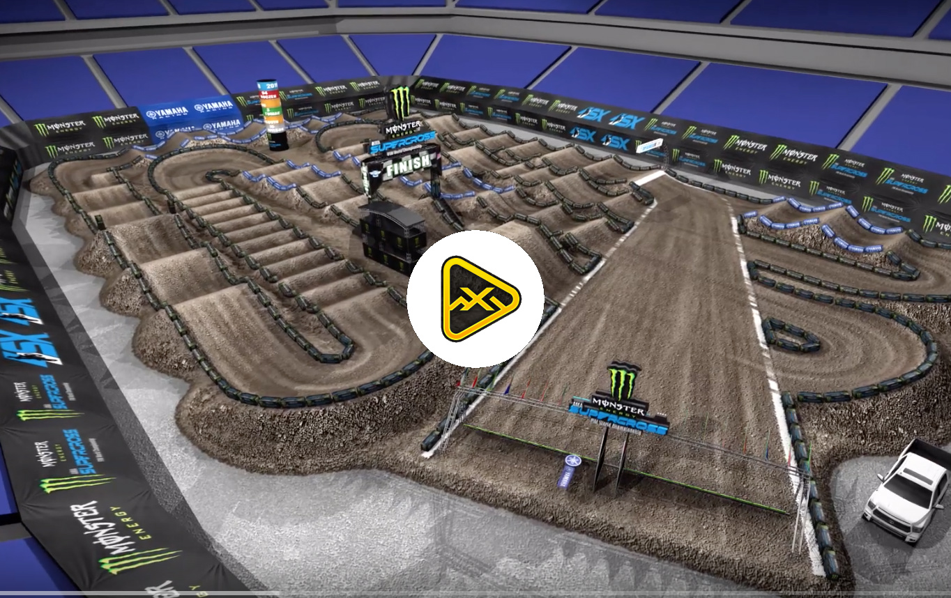 2019 Detroit SX Animated Track Map