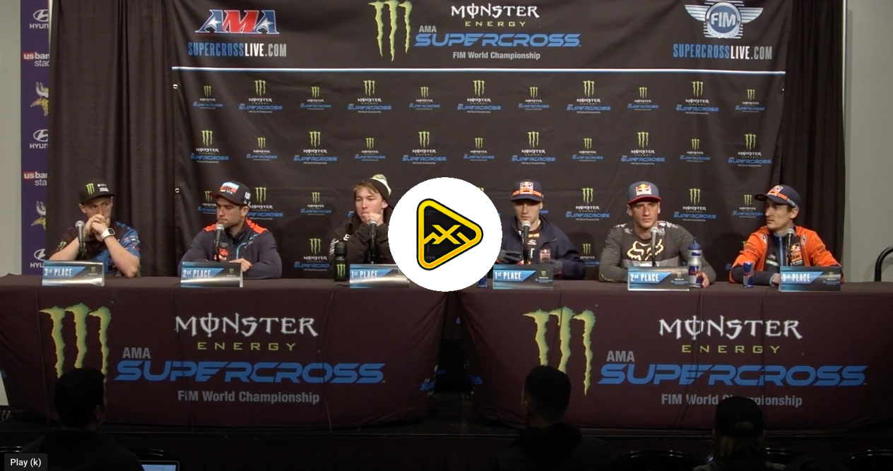 Post Race 250/450 Press Conference – Minneapolis SX