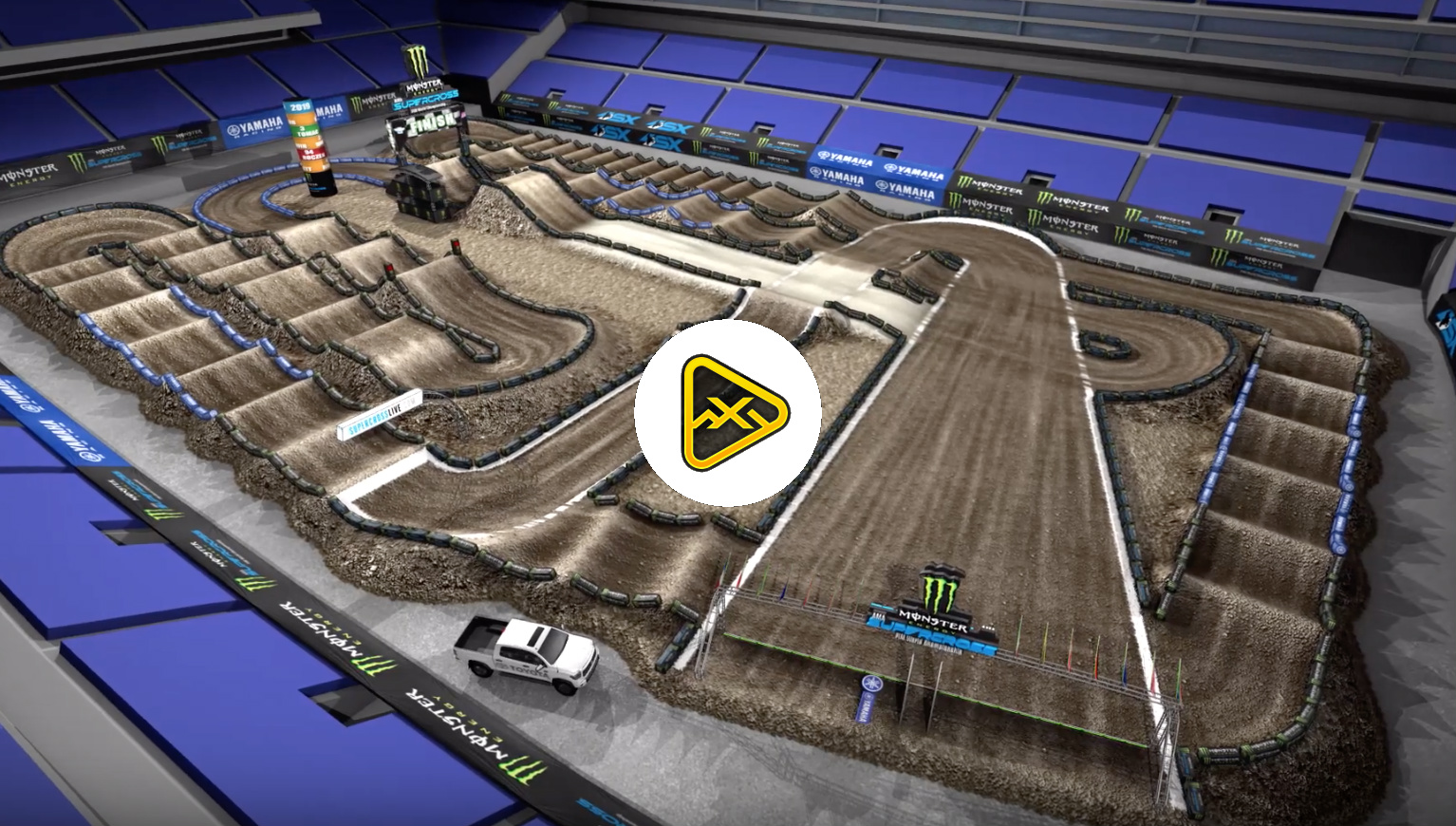 2019 Seattle SX Animated Track Map